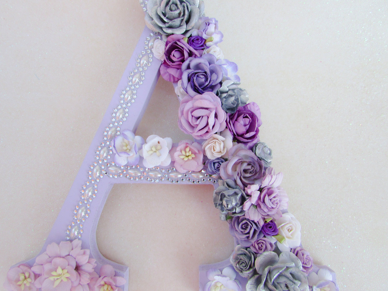 Flower Letter Nursery Wall