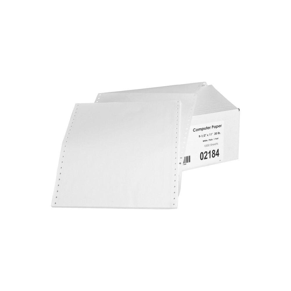 Sparco Continuous Paper Letter 8 1 2 X 11 20 Lb Basis