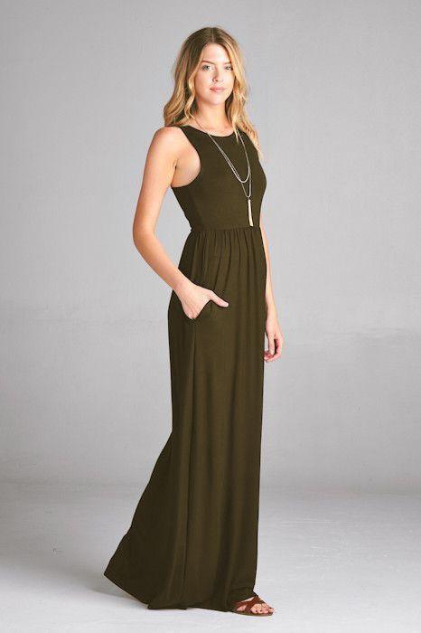 Solid Tank Maxi Dress S Xl Clothing Shoes Pinterest Dresses