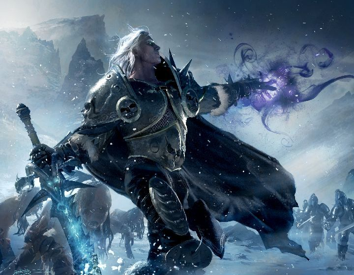 Illustration De Michael Komarck Warcraft Art Death Knight