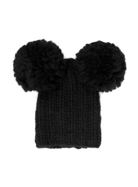3529c06dac4 Chunky knit wool pom pom beanie. Made me smile!