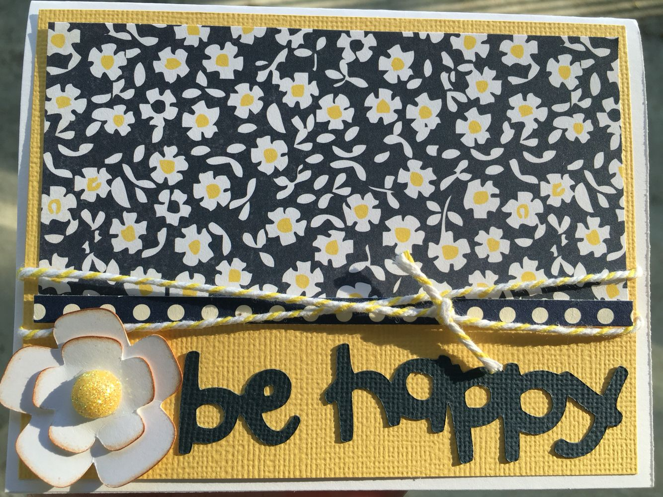 Be happy! Next time could add a bumblebee and substitute with BEE happy!