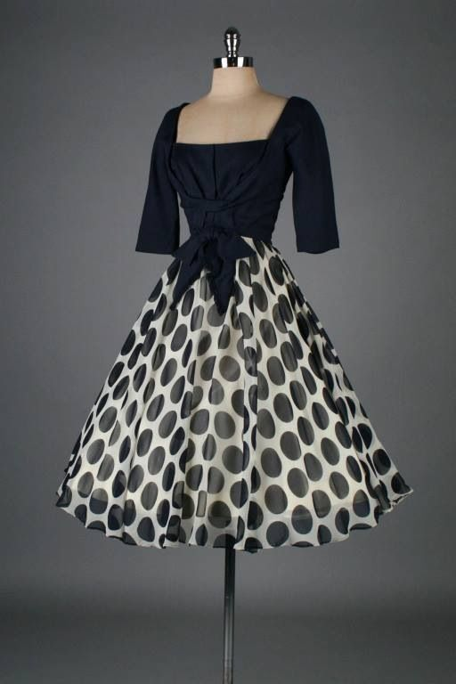 Pois Vintage Ropa Vintage Vestidos De Los A 241 Os 50 Y