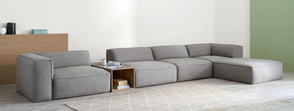 modulo de sofa gris fakir maisons du