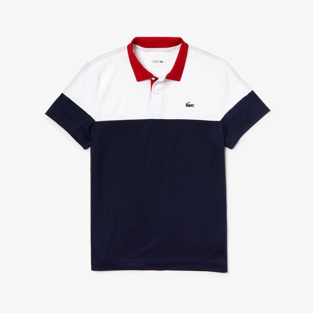 Men S Lacoste Sport Colourblock Breathable Tech Pique Tennis Polo Shirt Tshirt Design Men Polo T Shirts Men Shirt Style