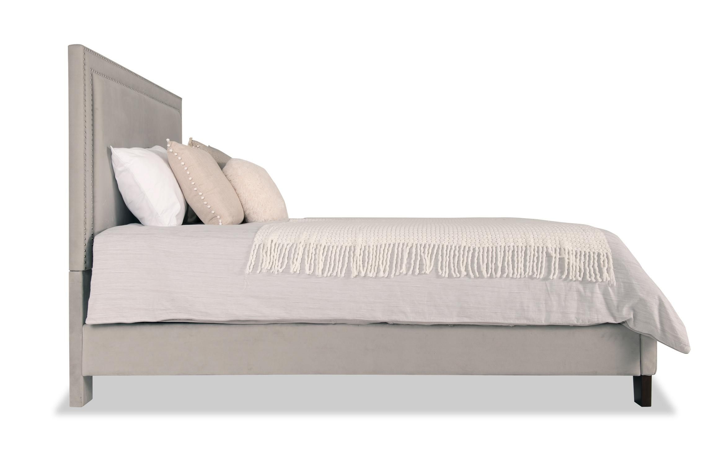 Tremont Queen Gray Upholstered Bed Grey Upholstered Bed Upholstered Beds Bed
