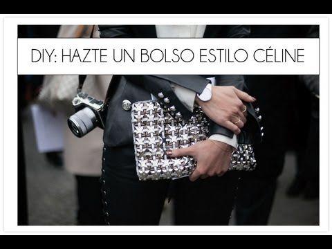 DIY un bolso clutch estilo Celine - YouTube
