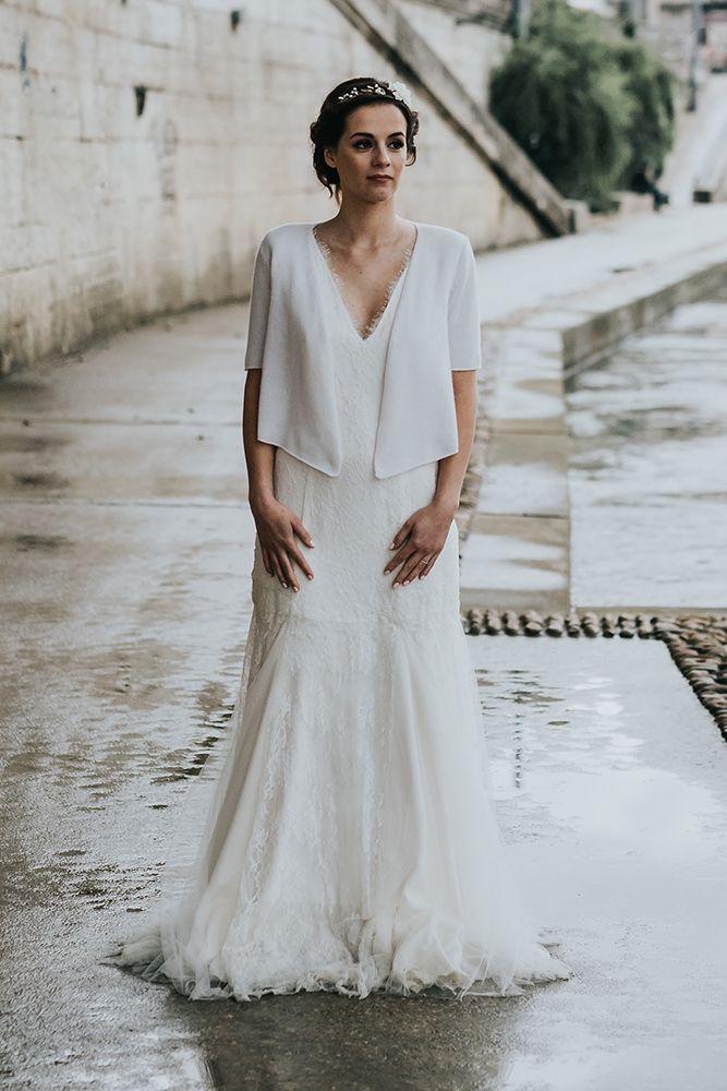 Mod le pamela cachemire mari e fabriqu en france pour for Robes mignonnes pour les mariages d hiver