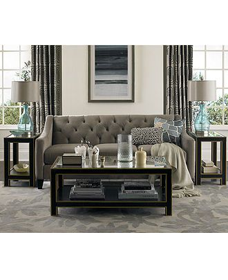Chloe Fabric Velvet Metro Living Room Furniture Sets