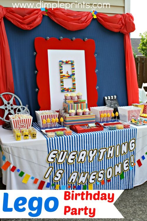 Lego Movie themed Birthday Party from DimplePrints Blogs We Love