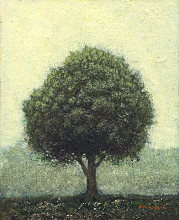 やまざきくにか/Kunika Yamaaki tree 132 キャンバスにアクリル  F3号