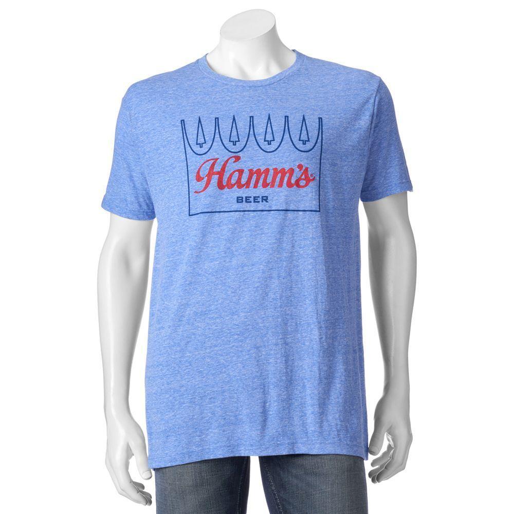 Men's Hamm's Logo Tee, Size: Medium, Med Blue