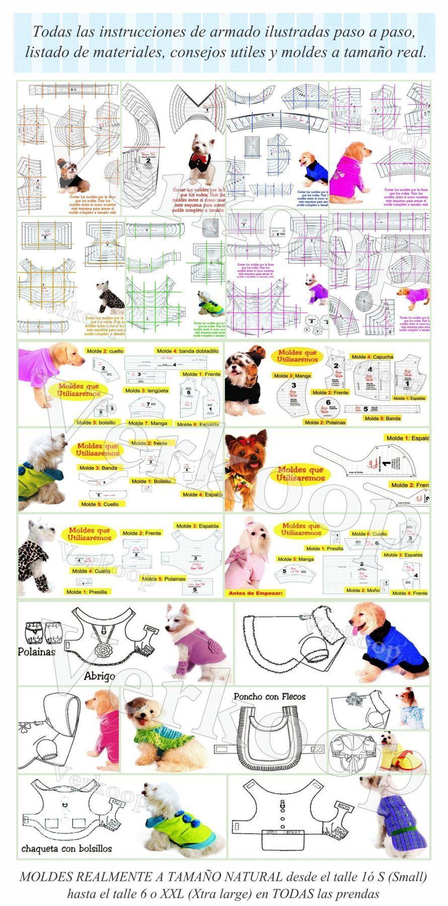 moldes de ropa para perros - Buscar con Google … | Perrita …