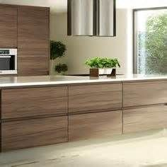 Handleless Walnut Veneer Kitchen From Kb Trade