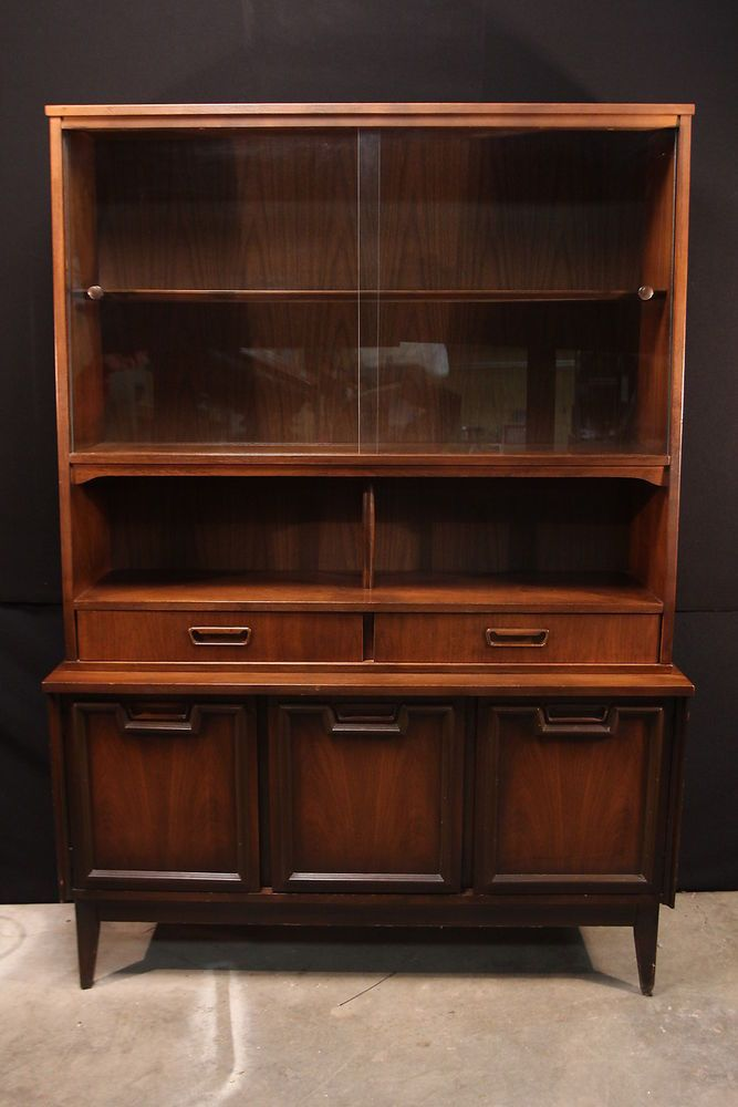 Vintage Mid Century Modern China Cabinet Hutch Garrison Furniture. Vintage Mid Century Modern China Cabinet Hutch Garrison Furniture
