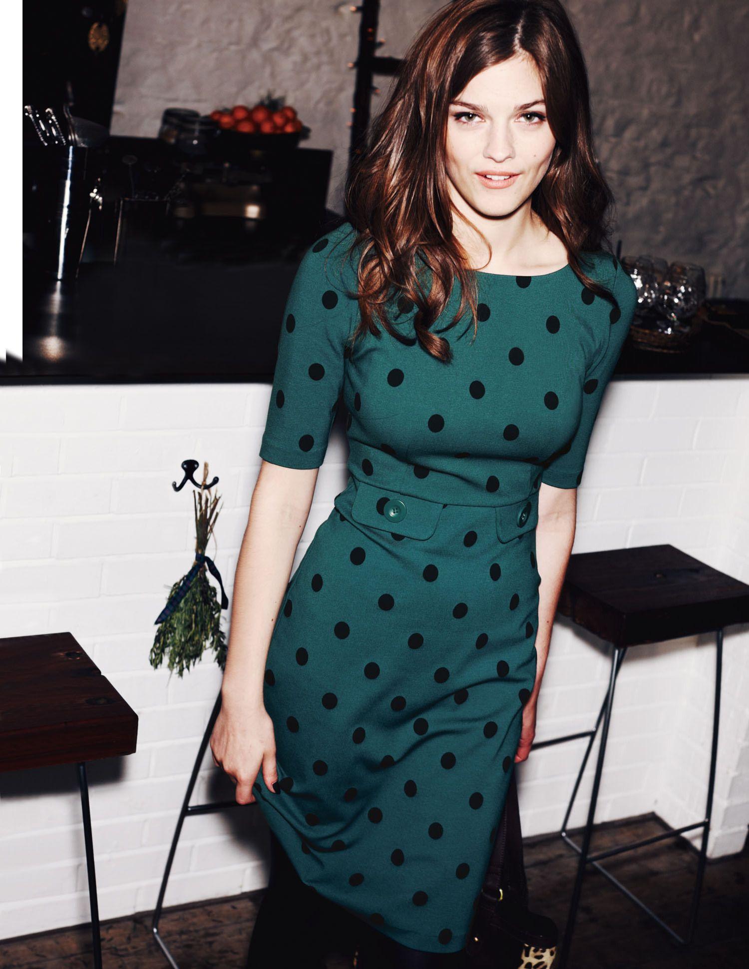 3d136efb3a1be pine green dress | Color me beautiful! | Pinterest