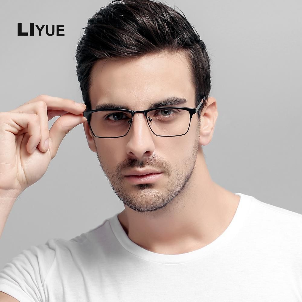 c7f5c443978 LIYUE oculos de grau Eyeglasses optical frames men square frame  Prescription glasses optical Computer Glasses anti blue ray. Yesterday s  price  US  21.28 ...