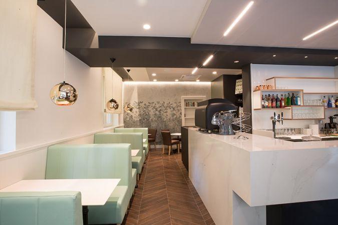 Arredamento bar caffe adua borgosesia: panche sedie tavoli