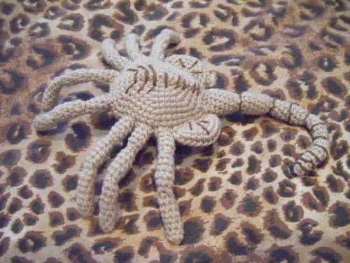 Alien Face Hugger Crochet Stuffs Toys Pinterest Crochet