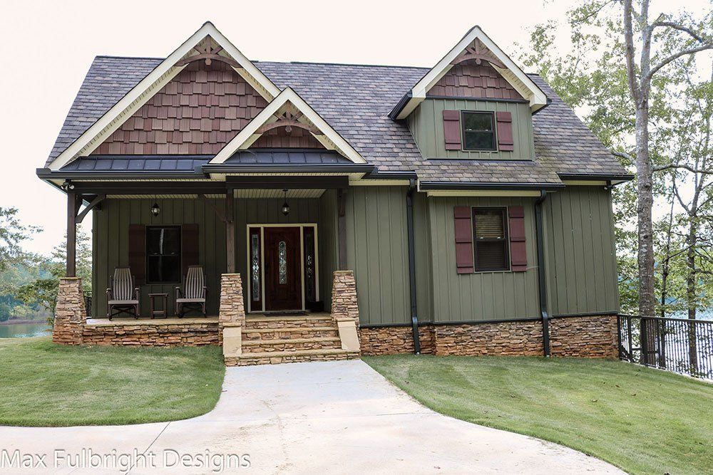 Small Cottage Plan with Walkout Basement   cottages   Pinterest     Our Autumn Place by Max Fulbright is a small rustic cottage style house plan  with craftsman details  an open floor plan and walkout basement