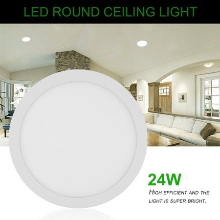 Ac 85 265v 24w 300mm Round Led Panel Light Durable Recessed