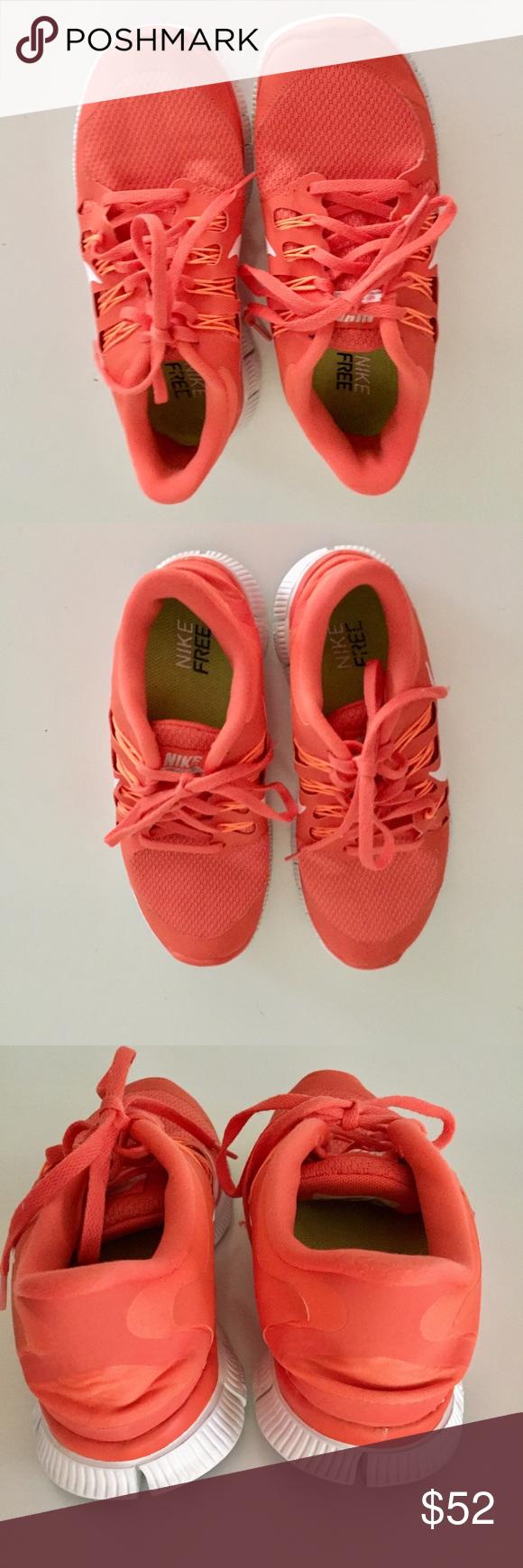 Nike Free 5.0 neon neonorange sneakers Schuhe Turnschuhe