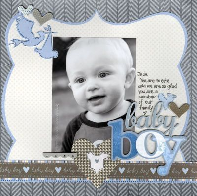 Baby Boy Scrapbook Page Layout Ideas Baby Boy Layout Page Large