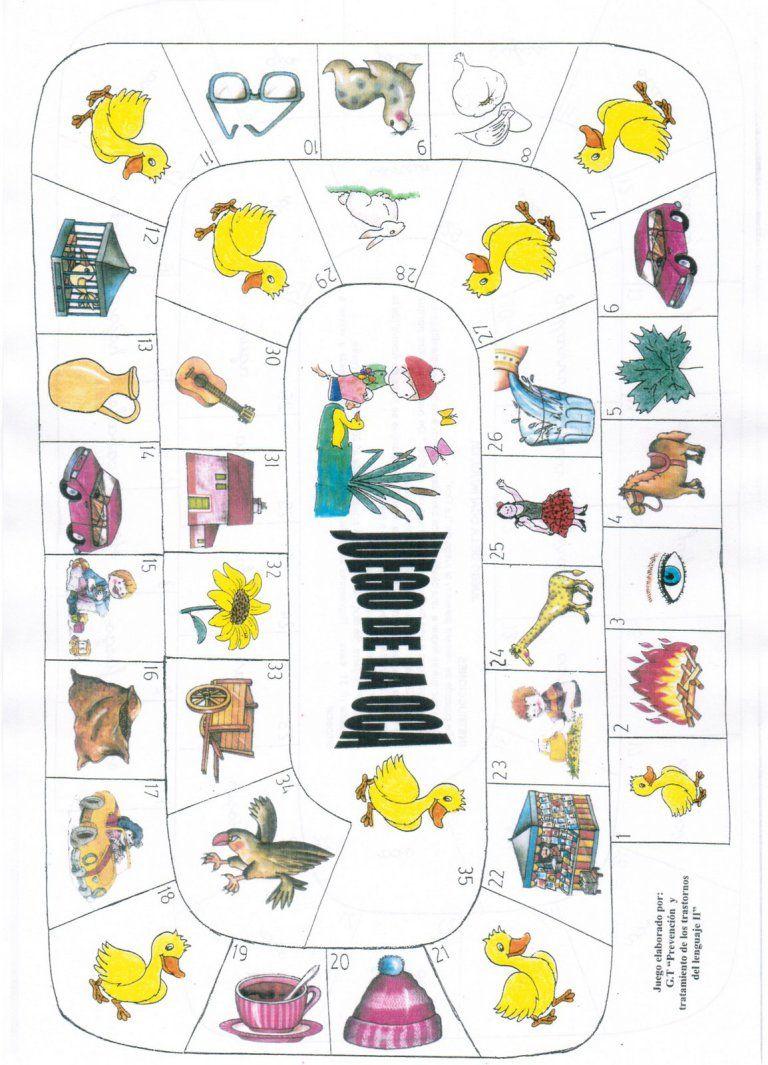 Tableros De La Oca Para Trabajar Los Fonemas Logopedia Pinterest