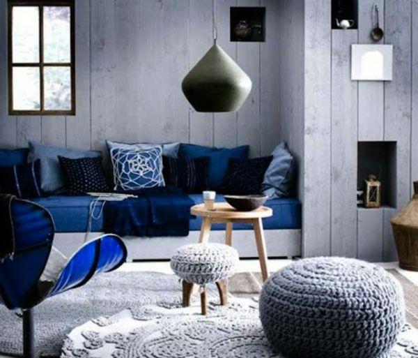 farbide wohnzimmer blaue couch sessel | Wohnzimmer Ideen ...