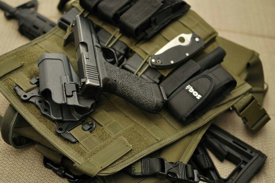 Blackhawk Serpa Magazine Holder Condor chest rig with blackhawk serpa holster for glock 40 31