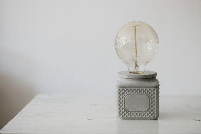 Betonlampe // Vintage Industrial Design  von Frida Karo auf DaWanda.com  Concrete Lamp
