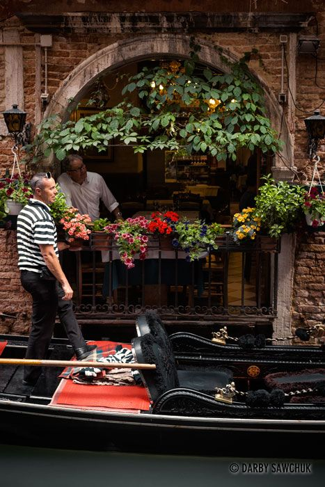 Restaurant of Venice's small canals