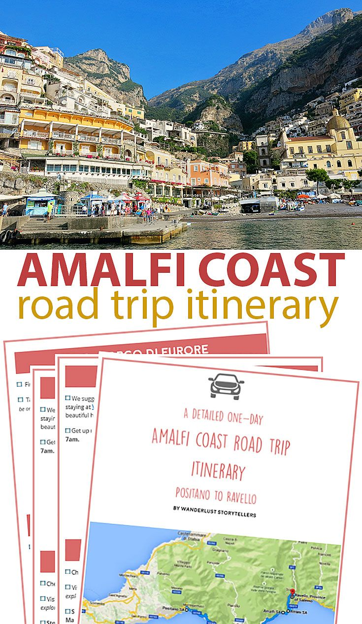 Printable Amalfi Coast Road Trip Itinerary Amalfi Coast