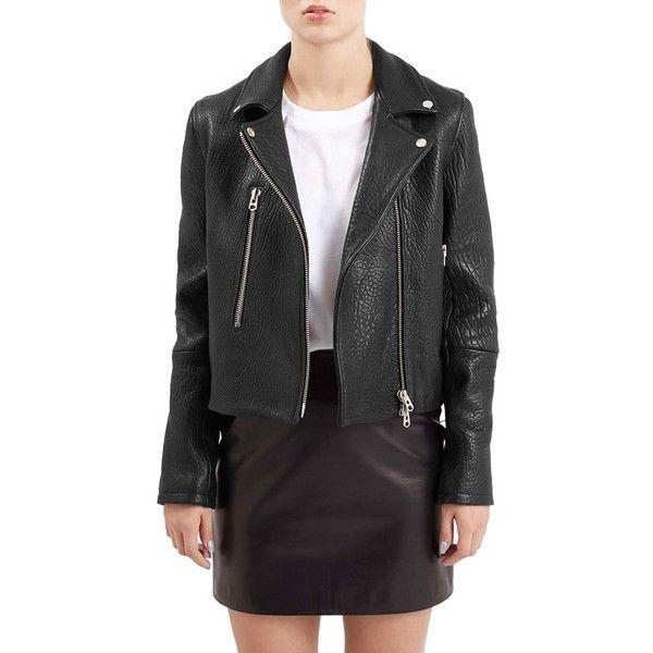RACHEL ZOE Womens Black Tweed Faux Leather Moto Jacket S