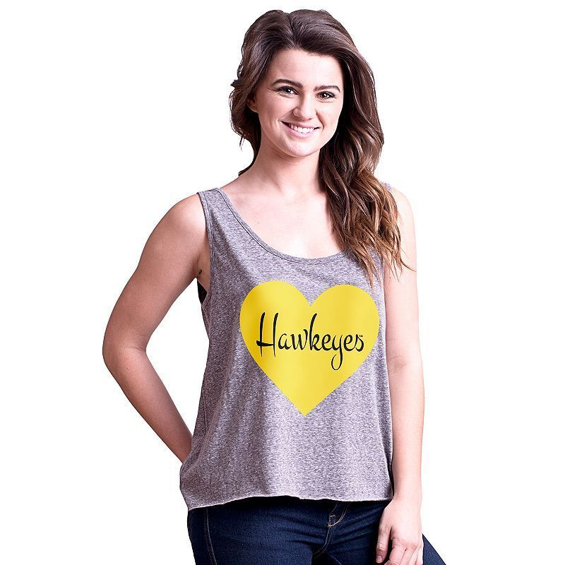Juniors' Iowa Hawkeyes Heartbeat Tank Top