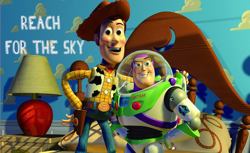 Reach for the sky and find your best friend or someone who needs some cheer  and tell them you got a friend in me!! | Toy story 1995, Pixar movies,  Woody and buzz