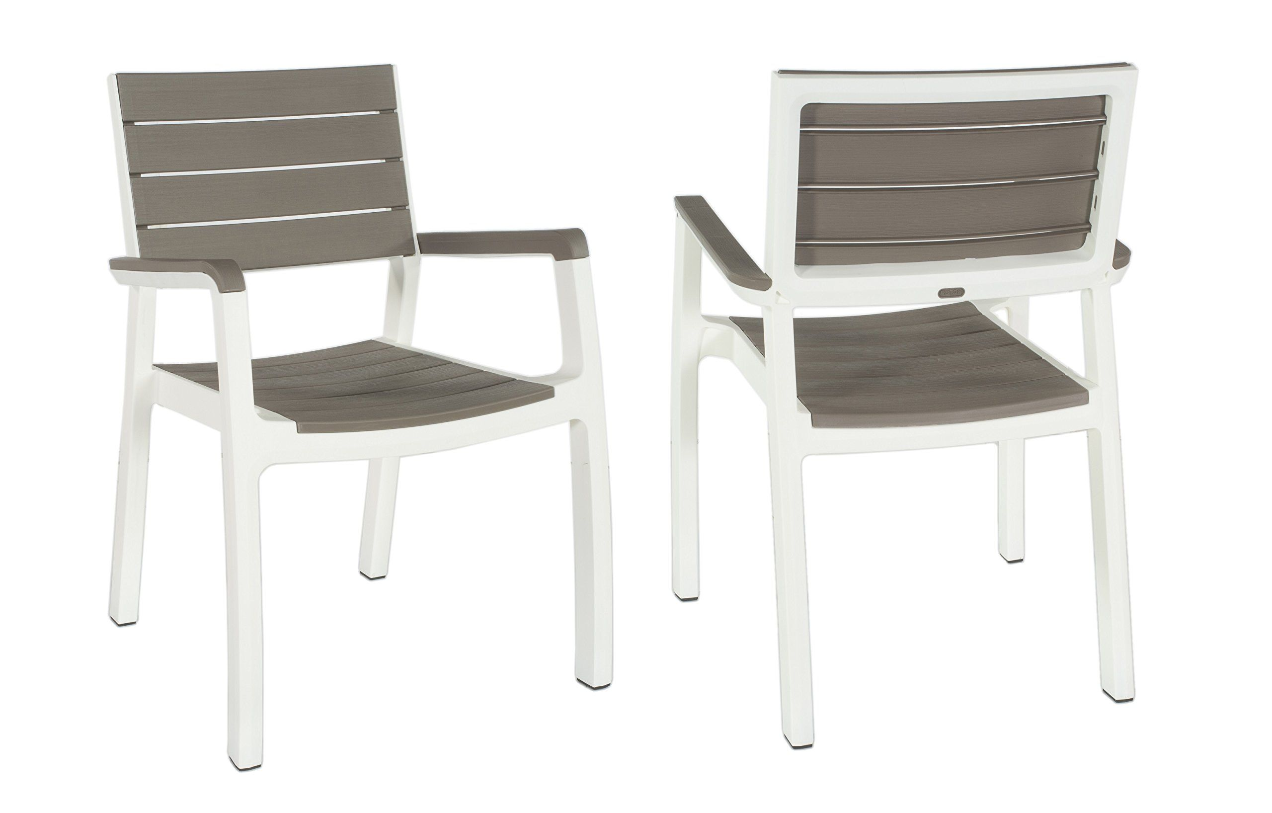 Keter Harmony Indoor Outdoor Stackable Patio Furniture Armchair Set Modern Wood Style Finish Pack Of 2 Chairs Want To Know More Click On The Image