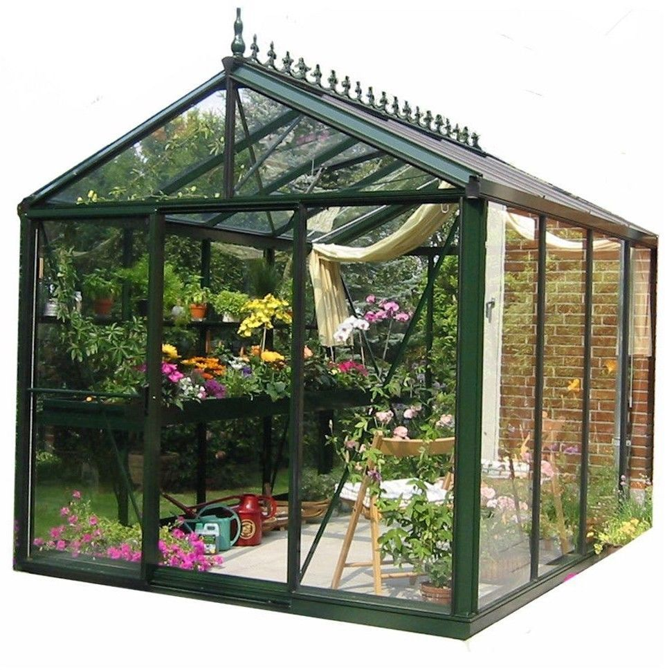 Victorian Greenhouse Kit 8x10 Aluminum Frame 4mm Tempered Glass