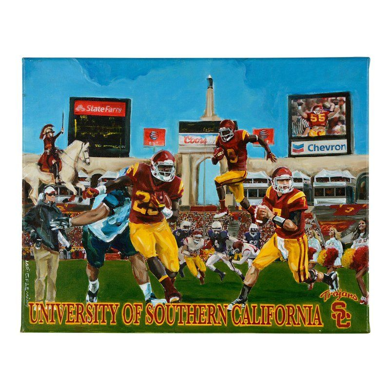 Usc Trojans Football Painting By Lorin C Fleming In 2020