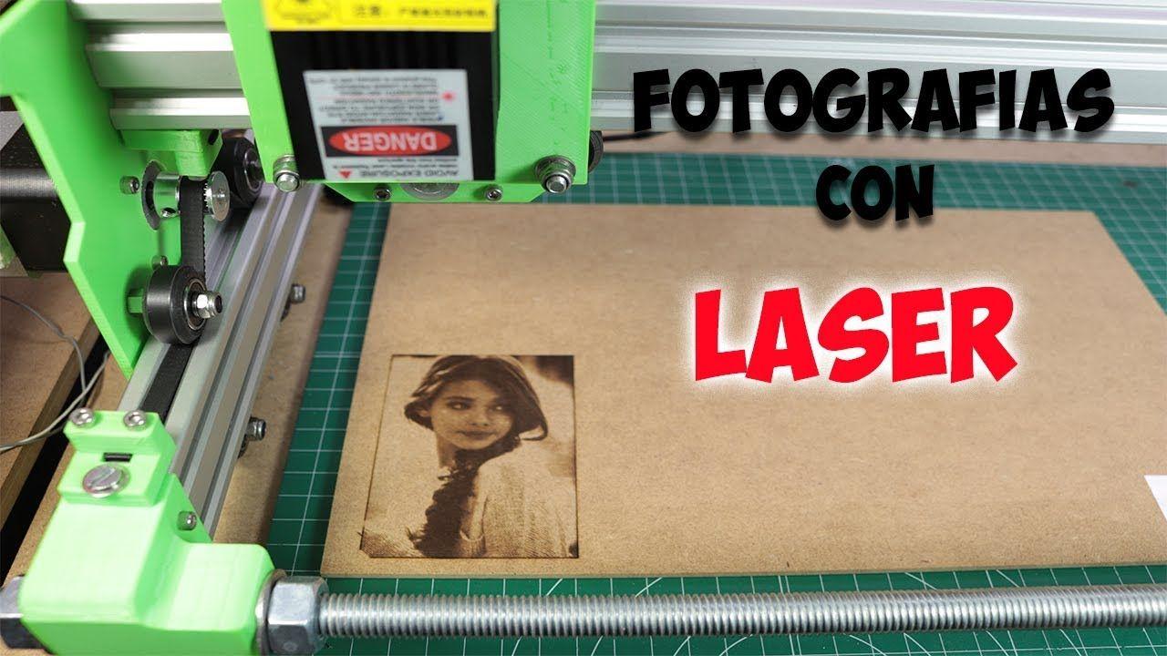 Grabado De Fotografías En Madera Con Cnc Láser Youtube Cnc Proyectos Cnc Grabadora Laser