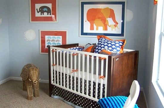 elefanten motive ideen kleines babyzimmer einrichten - Kleines Babyzimmer Einrichten