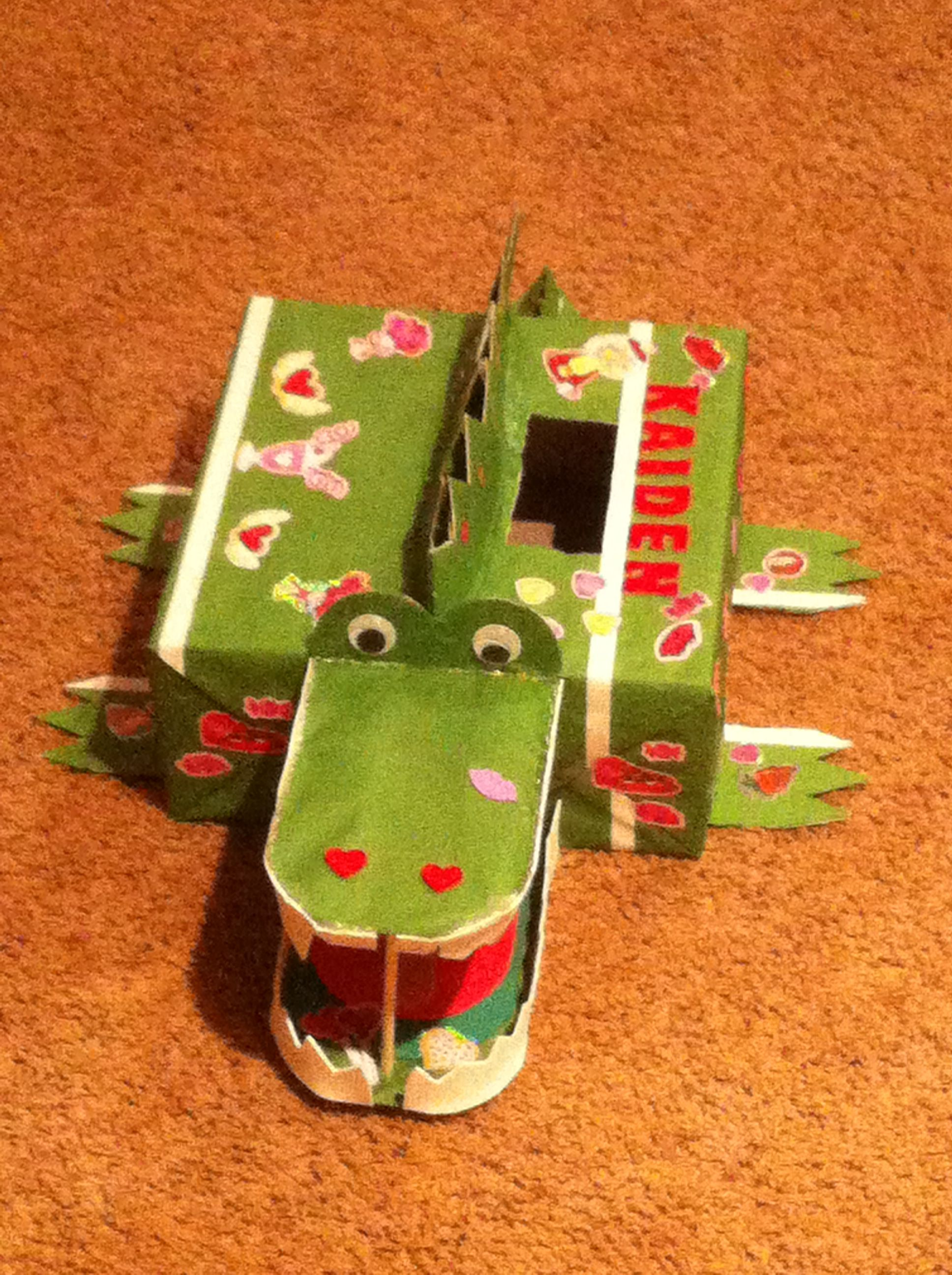 alligator valentine box 2012 my son got 1st place on it too