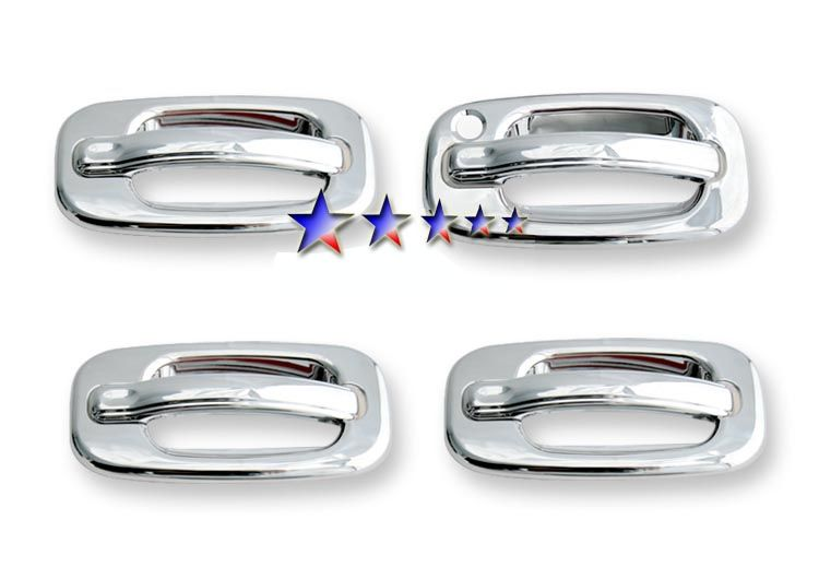 1999 2006 Gmc Sierra W O Passenger Side Keyhole Chrome Door Handles Chrome Door Handles Silverado Accessories Chevy Silverado Accessories