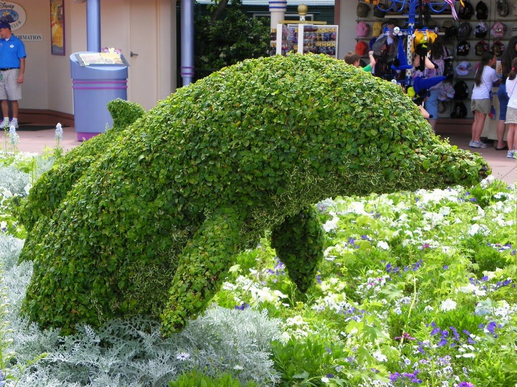 Epcot Flower And Garden Festival 2010 Dolphin Topiary Floral