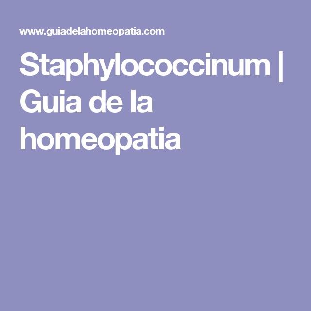 Staphylococcinum   Guia de la homeopatia