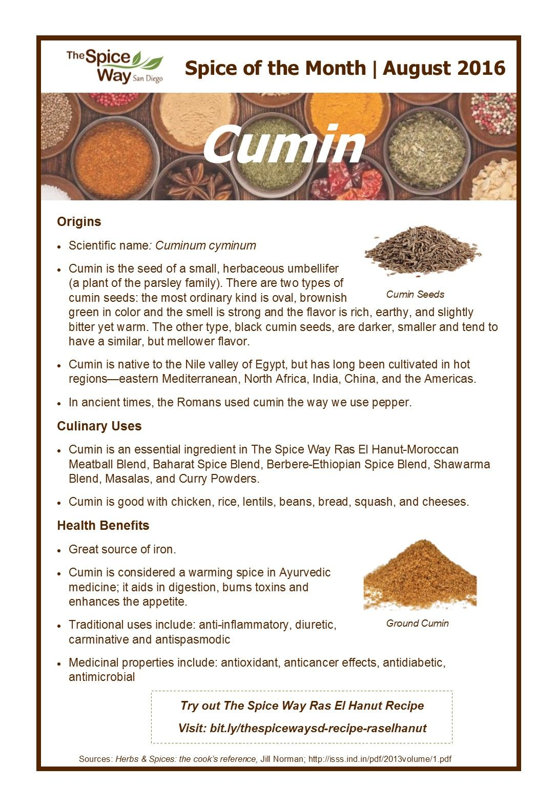 Spice of the Month - Cumin