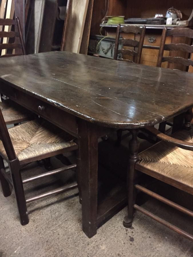 Great Small Wide Table With H Stretcher Rounded Corners And Two Lovely Drawers