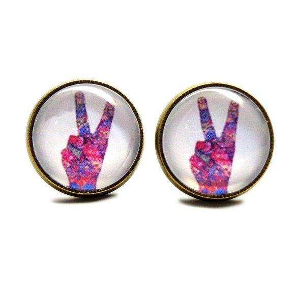 Download Peace Hand Earrings Handmade earrings with peace hand ...