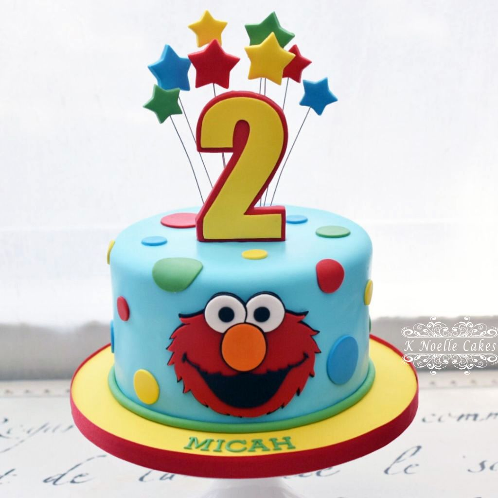Phenomenal Elmo Cake By K Noelle Cakes With Images Elmo Birthday Cake Funny Birthday Cards Online Chimdamsfinfo