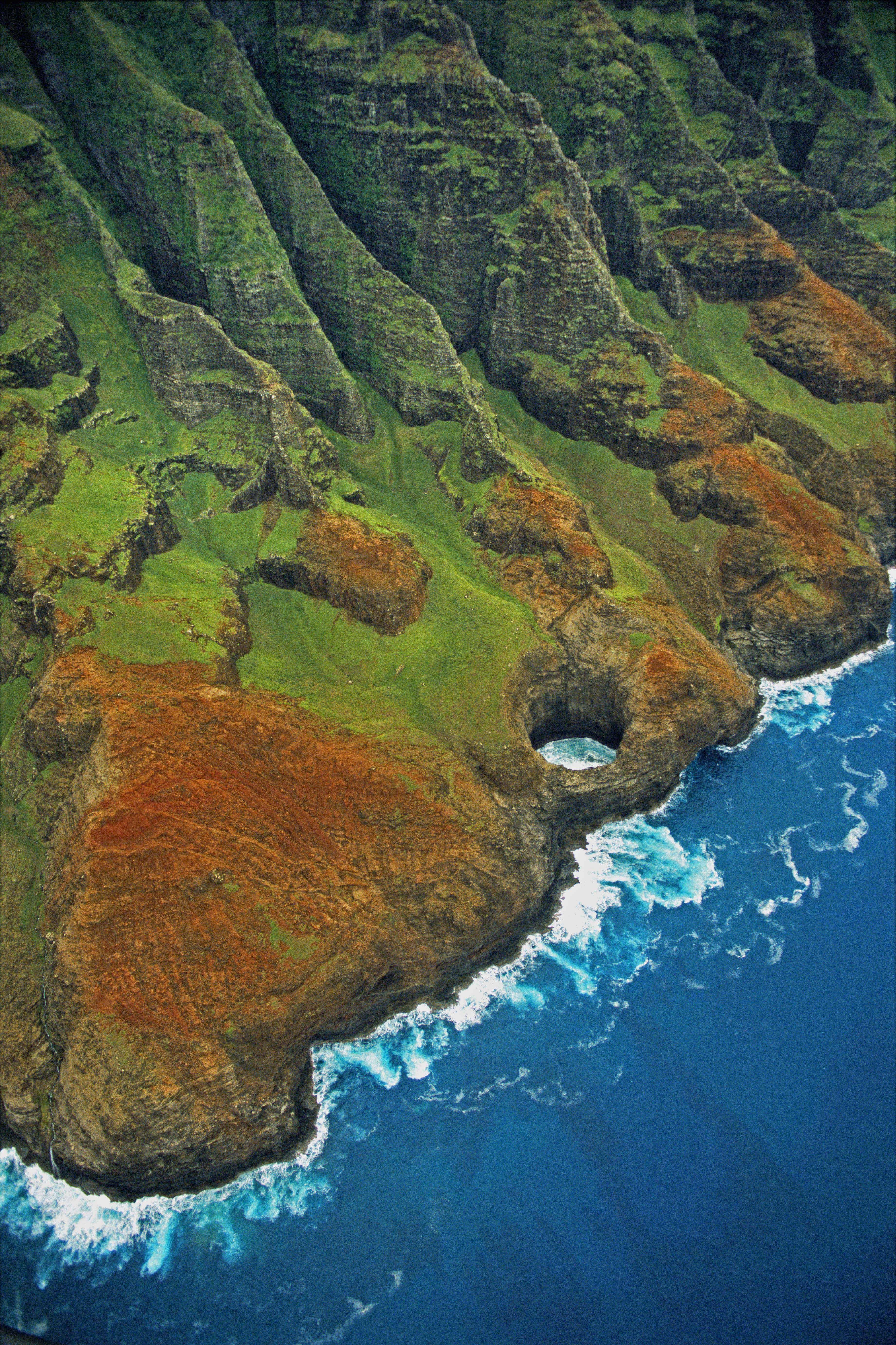 Na Pali Coast Aerial View Kauai Hawaii. #kauai #hawaii Lucky Live Hawaii